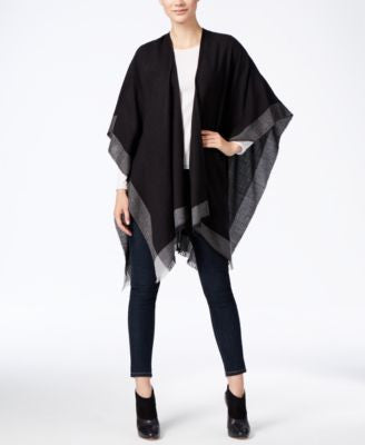 Charter Club Lightweight Border Stripe Poncho, Only at Vogily