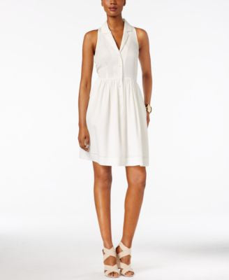 Catherine Catherine Malandrino Elias Sleeveless Shirtdress