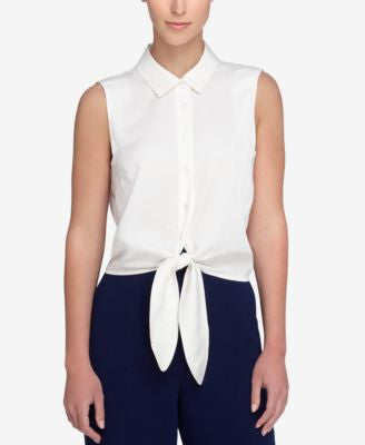 Catherine Catherine Malandrino Colby Tie-Front Shirt