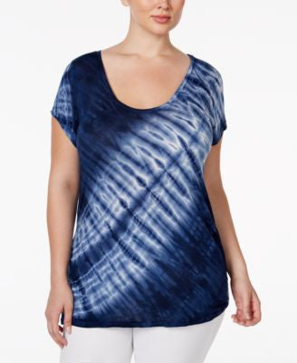 SLINK Jeans Plus Size Tie-Dyed T-Shirt
