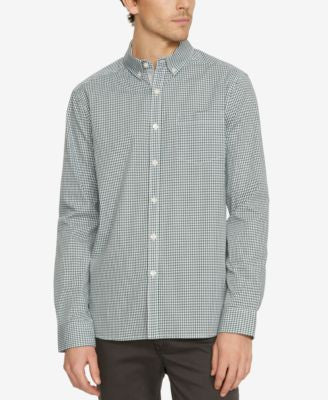 Kenneth Cole New York Men's Check Long-Sleeve Shirt
