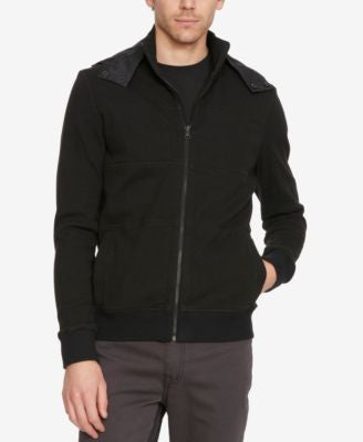Kenneth Cole New York Men's Full-Zip Mock-Collar Hoodie