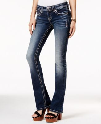 Miss Me Embellished Bootcut Dark Blue Wash Jeans