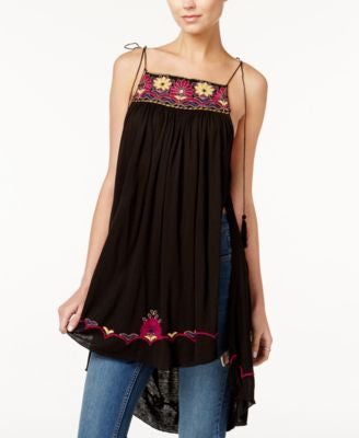 Free People Heat Wave Embroidered Maxi Tunic