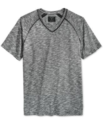 GUESS Men's Cliff Heathered V-Neck T-Shirt