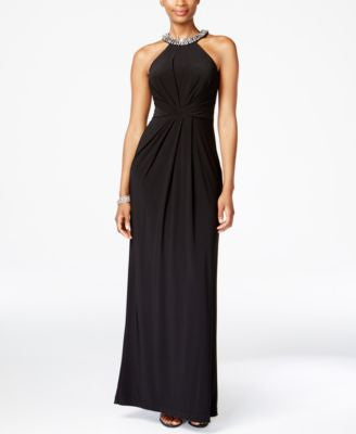 Adrianna Papell Jersey Halter Gown
