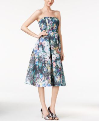 Calvin Klein Printed Scuba Fit & Flare Dress