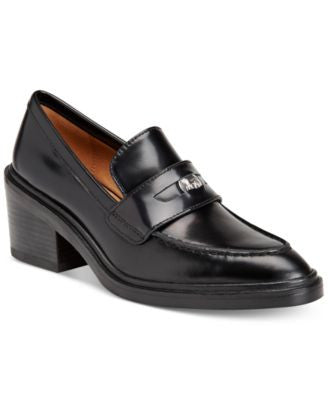 COACH Heath Block-Heel Tailored Loafers