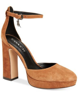 COACH Chrystie Block-Heel Platform Sandals