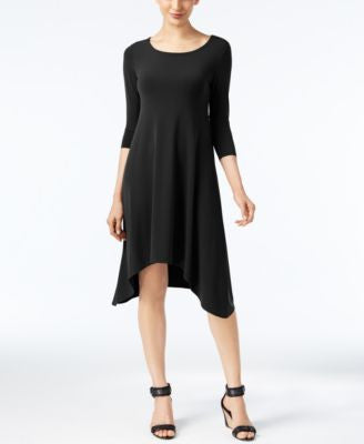 Alfani Petite Knit Handkerchief-Hem Dress, Only at Vogily