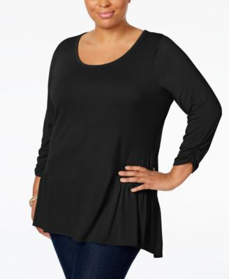 NY Collection Plus Size High-Low Top