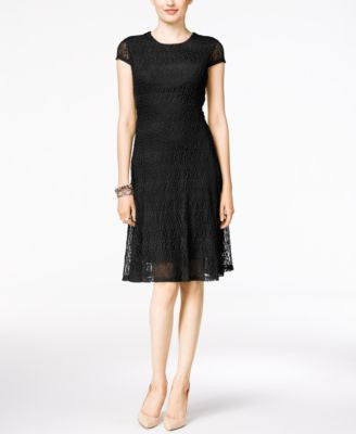 Alfani Petite Lace A-Line Dress, Only at Vogily