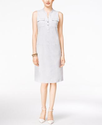 Alfani Petite Faux-Suede Shift Dress, Only at Vogily