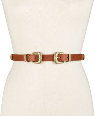 INC International Concepts Double Buckle Western Belt, Only at Vogily
