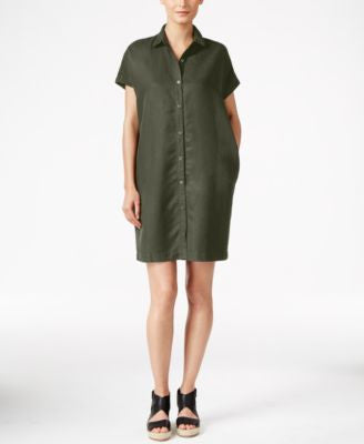 Eileen Fisher Classic Collar Button Down Shirtdress