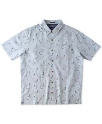 Jack O'Neill Men's Sano Graphic-Print Linen Short-Sleeve Shirt