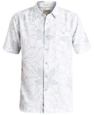 Quiksilver Waterman Men's Encinitas Floral-Print Short-Sleeve Shirt