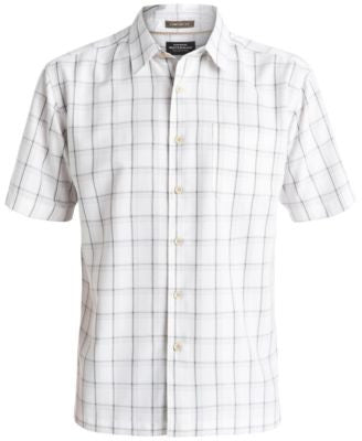 Quiksilver Waterman Men's Vanguard Windowpane-Plaid Short-Sleeve Shirt