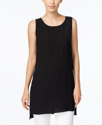Eileen Fisher Scoop-Neck Silk Tunic