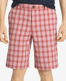 IZOD Men's Plaid Flat-Front Shorts
