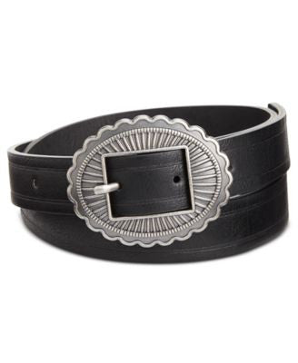 INC International Concepts Skinny Conch Buckle Belt, Only at Vogily