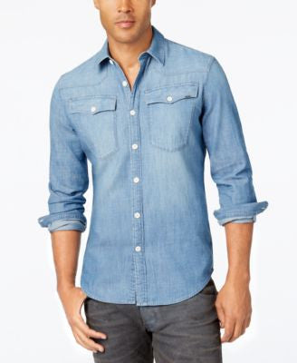 GStar Men's 3301 Denim Long-Sleeve Shirt