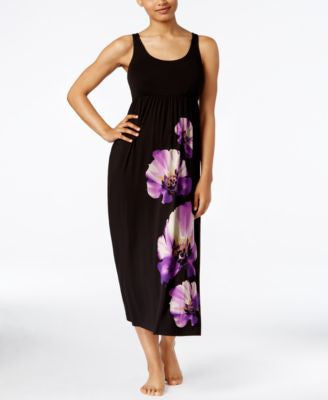 Alfani Floral-Print U-Neck Nightgown, Only at Vogily