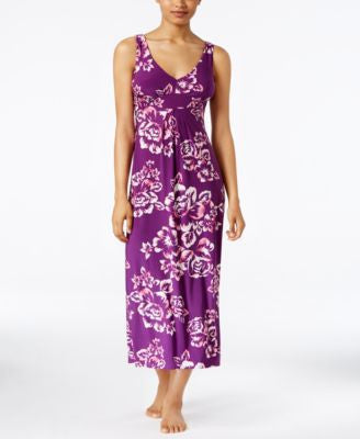 Alfani Floral-Print V-Neck Nightgown, Only at Vogily