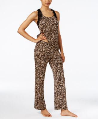 Thalia Sodi Printed Racerback Tank and Pant PJ Set, Only at Vogily