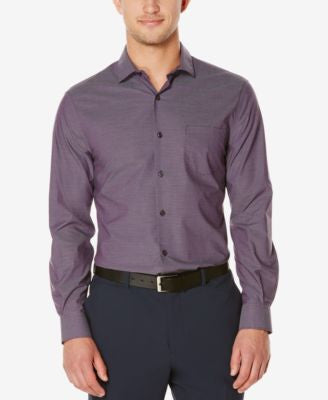Perry Ellis Men's Big & Tall Iridescent Stripe Long-Sleeve Shirt