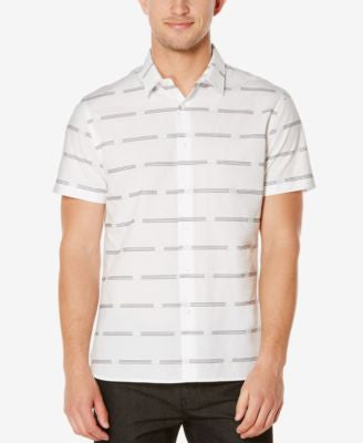 Perry Ellis Men's Broken Stripe Short-Sleeve Shirt
