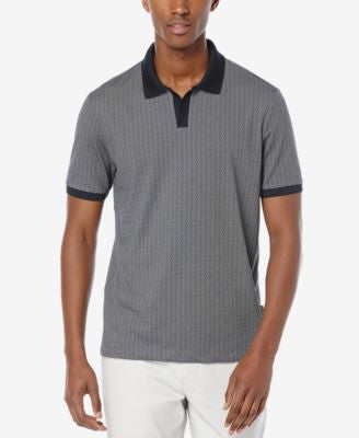Perry Ellis Men's Jacquard Geometric Polo