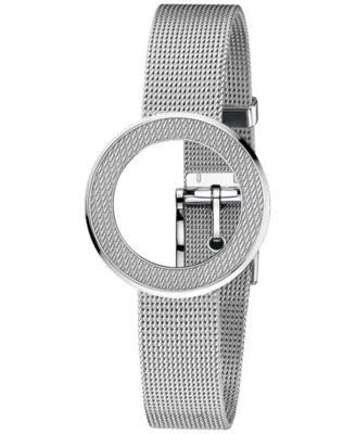 Gucci Watch Band Bracelet and Bezel, Women's Swiss U-Play Stainless Steel Mesh Bracelet YFA50044