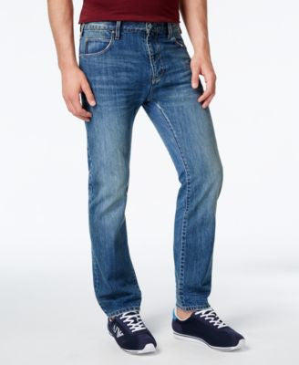 Armani Jeans Men's Straight-Leg Slim-Fit Jeans