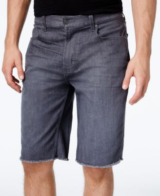 LRG Men's Monochrome Straight-Fit Cutoff Denim Shorts