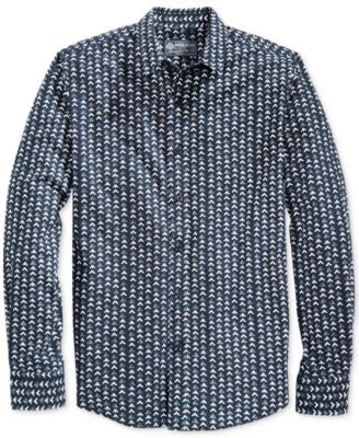 American Rag Men's Mountain-Print Long-Sleeve Shirt, Only at Vogily