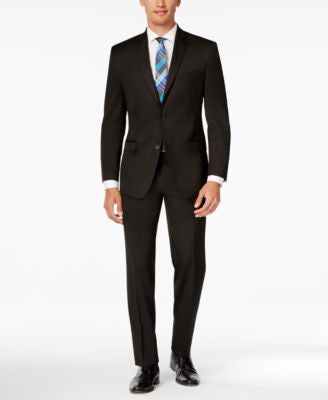Marc New York by Andrew Marc Men's Slim-Fit Black Suit
