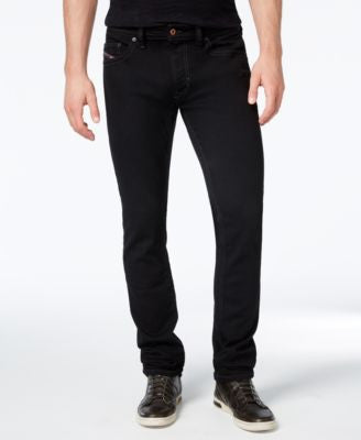 Diesel Men's Thavar 0Z886 Black Slim Fit Jeans