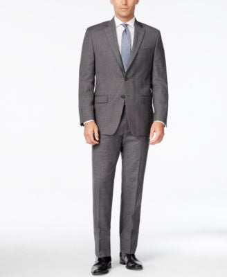 Lauren Ralph Lauren Men's Classic-Fit Ultraflex Grey Plaid Suit