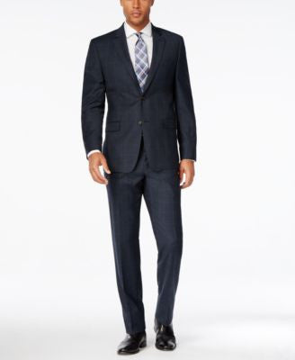 Lauren Ralph Lauren Men's Slim-Fit Navy Glen Plaid Flannel Suit