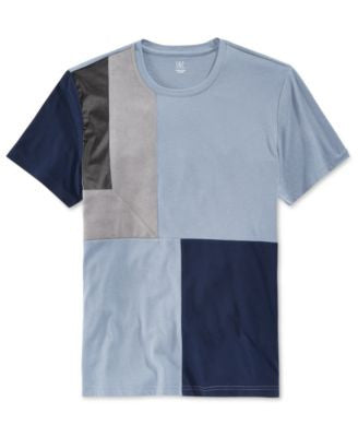 INC International Concepts Men's Kramer Colorblocked Faux Suede T-Shirt, Only at Vogily