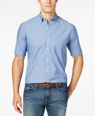 Club Room Men's Dot Short-Sleeve Shirt