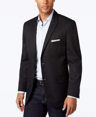 Alfani Men's Slim-Fit Black Herringbone Sport Coat