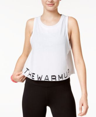 Jessica Simpson The Warm Up Juniors' Graphic Swing Crop Tank Top, Only At Vogily