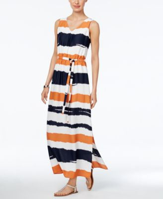 Nine West Sleeveless Printed Maxi Dress