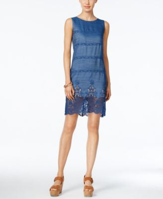 Tommy Hilfiger Denim Lace Sheath Dress