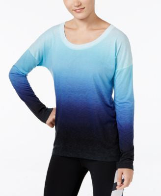 Ideology Long-Sleeve Dip-Dyed Top, Only at Vogily