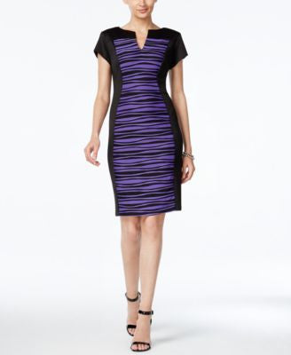 Connected Petite Striped Sheath Dress