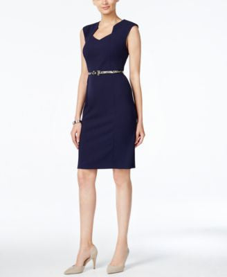 Connected Belted Sheath Dress