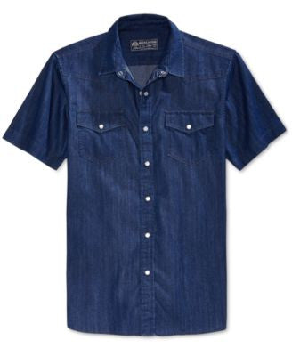 American Rag Men's Phillip Short-Sleeve Shirt, Only at Vogily